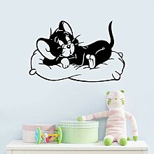 VIOYO Black Cute Cats Cartoon Film Kinderzimmer