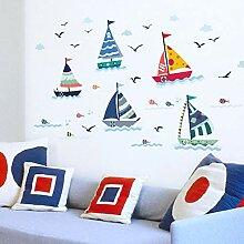VIOYO Blue Ocean Seagull Segelboot Aufkleber