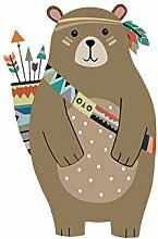VIOYO Bunte Tribal Bear Wandaufkleber Woodland