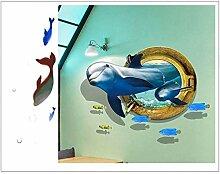 VIOYO Die Unterwasserwelt Delphin -Aufkleber