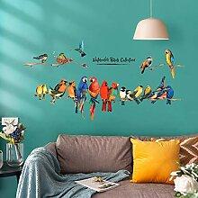 VIOYO Farbe Papagei Wandaufkleber Dekoration