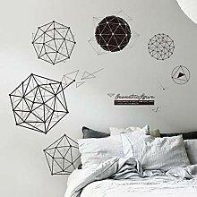 VIOYO Geometrische Wandaufkleber Wohnzimmer