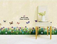 VIOYO Grasblume Schmetterling Wandaufkleber