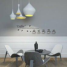 VIOYO Kaffee Glas Wohnzimmer Küche Folie Aufkleber