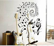VIOYO Wandaufkleber Musiknoten Rotation Schule