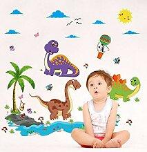 VIOYO WandaufkleberDinosaurier Cartoon Vinyl