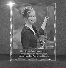 VIP-LASER 2D GRAVUR Glas Kristall Facettierte