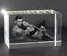 VIP-LASER 2D Gravur Glas Kristall Quader im