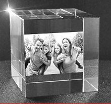 VIP-LASER 2D Gravur Glas Kristall Würfel mit