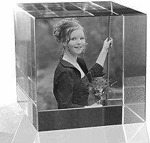 VIP-LASER 2D Gravur Glas Kristall Würfel mit dem