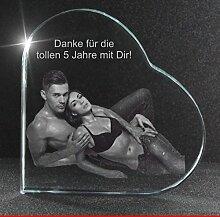 VIP-LASER 2D GRAVUR Glasherz L mit Deinem sexy