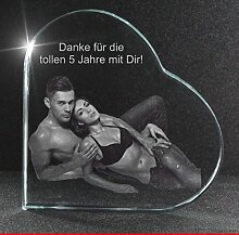 VIP-LASER 2D GRAVUR Glasherz XL mit Deinem sexy