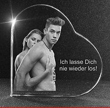 VIP-LASER 2D GRAVUR Glasherz XXL mit Deinem