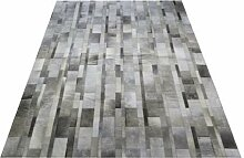Vip-leather NEU KUHFELL Patchwork Teppich (120 cm