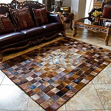 Vip-leather NEU KUHFELL Patchwork Teppich Cod 413