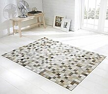 Vip-leather NEU KUHFELL Patchwork Teppich Cod 513