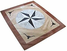 Vip Leather New Rindsleder Patchwork Teppich Code