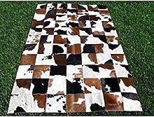 Vip Leather Rindsleder Patchwork Teppich Code Ar606