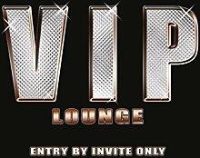 VIP Lounge, eintritt by einladungskarten nur. Lustig melden sie für bar, pub, schlafzimmer, garage, schuppen und Zuhause. Metall/Stahl Wand Zeichen - 20 x 30 cm