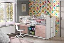 Vipack Hochbett Kinderbett mit Schreibtisch