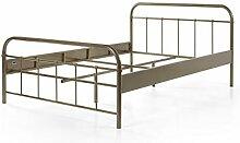 Vipack Metallbett, Jugendbett, Einzelbett, Metall,