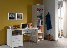 VIPACK Schreibtisch und Regal Milan, weiß