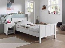Vipack Stella Set Bett & Nachttisch, weiß