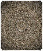 Vipsa Decke Braun Mandala Datura Super weiche