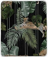 Vipsa Decke Leopard Blätter Muster Super weiche