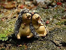 Virtue resin hedgehog lovers miniatures fairy