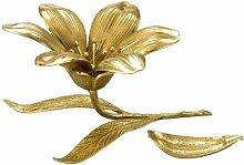 Virtus 1186 - Aschenbecher mit Blumen-Design , Bronze Manufaktur, 13 x 13 cm.