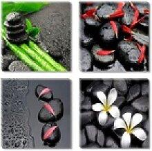 Visario Bild mit Rahmen 4er Bilder Set auf