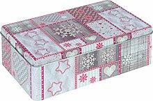 VISCIO Trading 172276Blechdose Weihnachten, Blech, Beige, 20x 15x 8cm