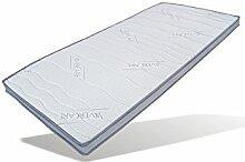 Visco-Topper mit antibakteriellen Silvercare-Bezug ideal für Boxspringbetten Höhe 8 cm (100 x 200 cm)