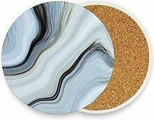 visesunny Marmor-Muster Getränkeuntersetzer