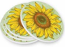 visesunny Realistisches Sonnenblumen-Muster,