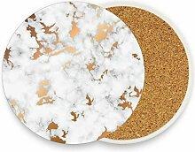 visesunny Weißer Marmor mit goldener Textur,