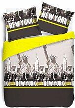 Vision New York Bettbezug mit 2 Kissenbezügen,