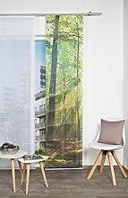 VISION S 84454   Schiebegardine FLORESTA I   halb-transparenter Stoff in Bambus-Optik   260x60 cm   Farbe: (grün)