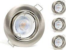 vislux 4er SET schwenkbare LED Einbaustrahler