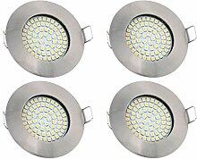 vislux LED Einbaustrahler Edelstahlgebürstet