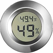 Visol Modern Small Circular Digital Hygrometer by