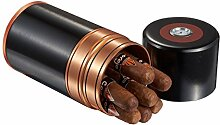 Visol Produkte Big Joe 7-cigar Reisen/Schreibtisch Humidor, schwarz und gelb Gun & Copper