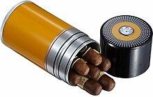Visol Produkte Big Joe 7-cigar Reisen/Schreibtisch Humidor, schwarz und gelb schwarz/gelb