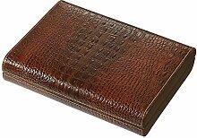 Visol Sobek (Ägyptische Mythologie) braun Leder Desktop Humidor, 10Zigarren, braun, S