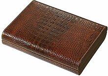 Visol Sobek Brown Leather Desktop Humidor, 10