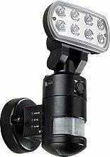 VisorTech Außenleuchte Kamera: