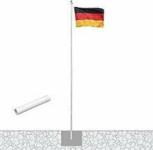 Vispronet® Alu-Fahnenmast 6,20 m/ø 50 mm mit