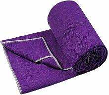 Visther Mikrofaser-Yogamatte-Handtuch, rutschfest,