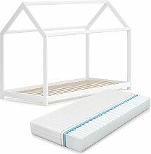 VITALISPA Hausbett WIKI 90x200 Weiß Kinderbett